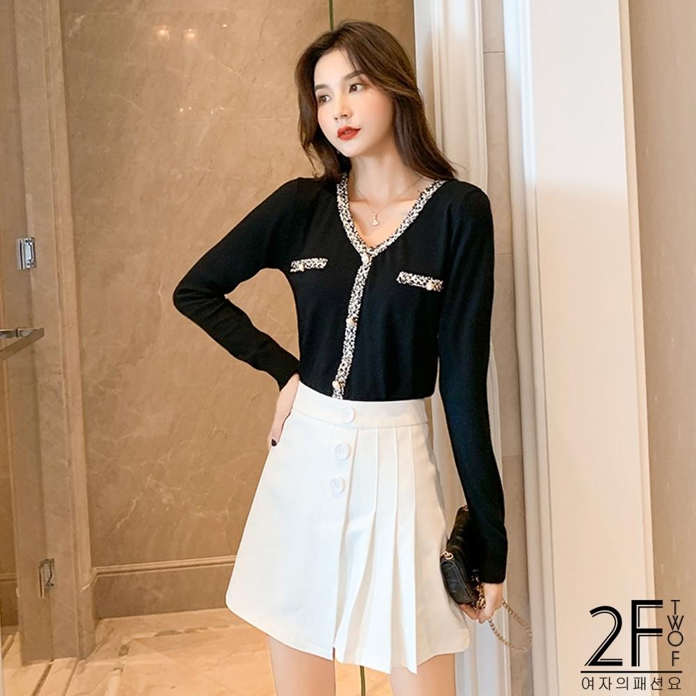 2F韓衣-V領造型上衣-3色-F