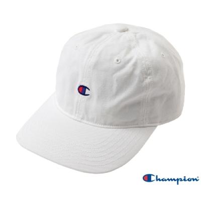 Champion C Logo棉質六片棒球帽 白色