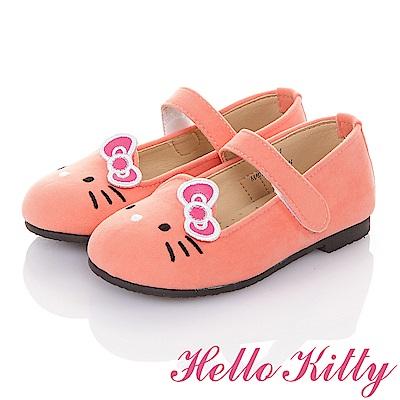 HelloKitty 高級手工超纖皮輕量減壓樂福娃娃童鞋-粉