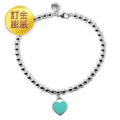 [限訂金膨脹購買]Tiffany&Co. 迷人愛心/圓牌圓珠純銀手鍊(多款可選)
