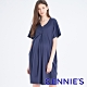 Gennies奇妮-不規則剪裁哺乳洋裝-藍紫(T1H09) product thumbnail 1