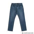 GIORDANO 男裝基本款中腰錐形牛仔褲 - 97 淺藍