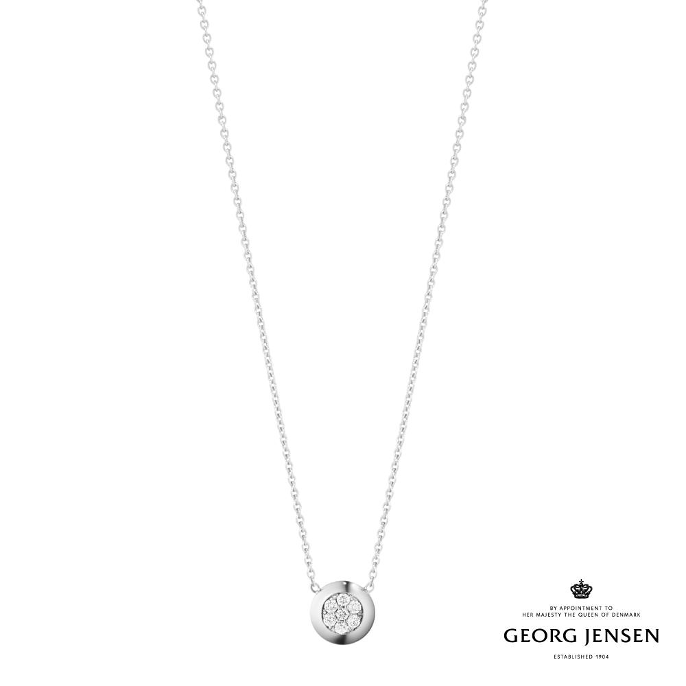 Georg Jensen 喬治傑生 AURORA 18K白金鑽石項鍊