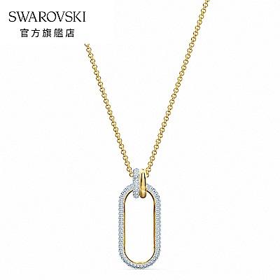 SWAROVSKI 施華洛世奇 Time 多色率性飾鏈造型墜飾項鍊