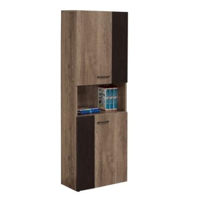 MUNA 奧蘿拉雙色半開放式2尺書櫃 60X32X182cm