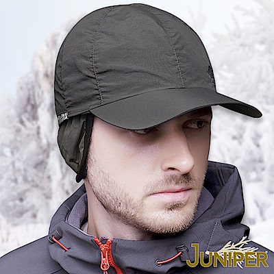 JUNIPER 鋪棉防潑水可換色螢光夜間反光條護耳冬帽