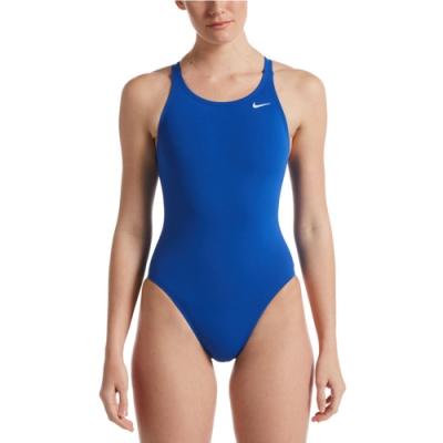 NIKE 女泳裝 連身泳裝 藍 NESSA001-494 Poly Solid Fastback