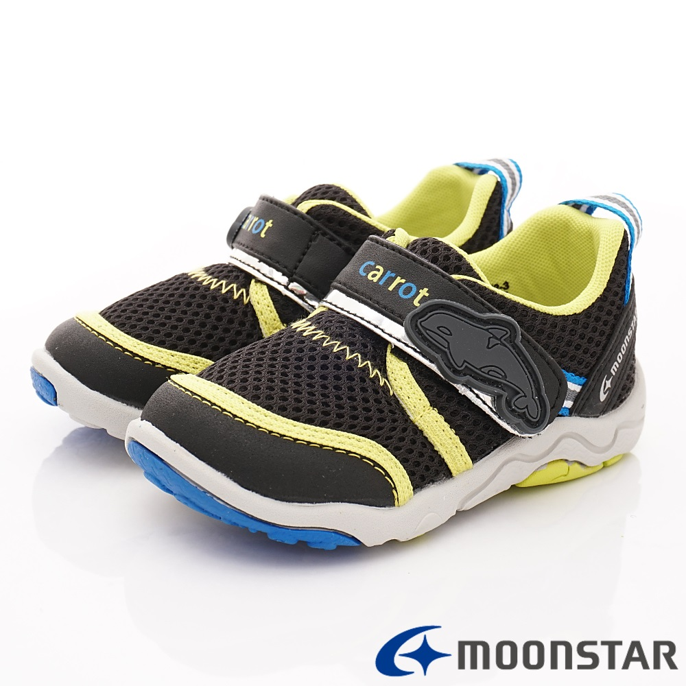 日本Carrot機能童鞋 2E玩耍速乾公園鞋 TW2306黑(中小童段)