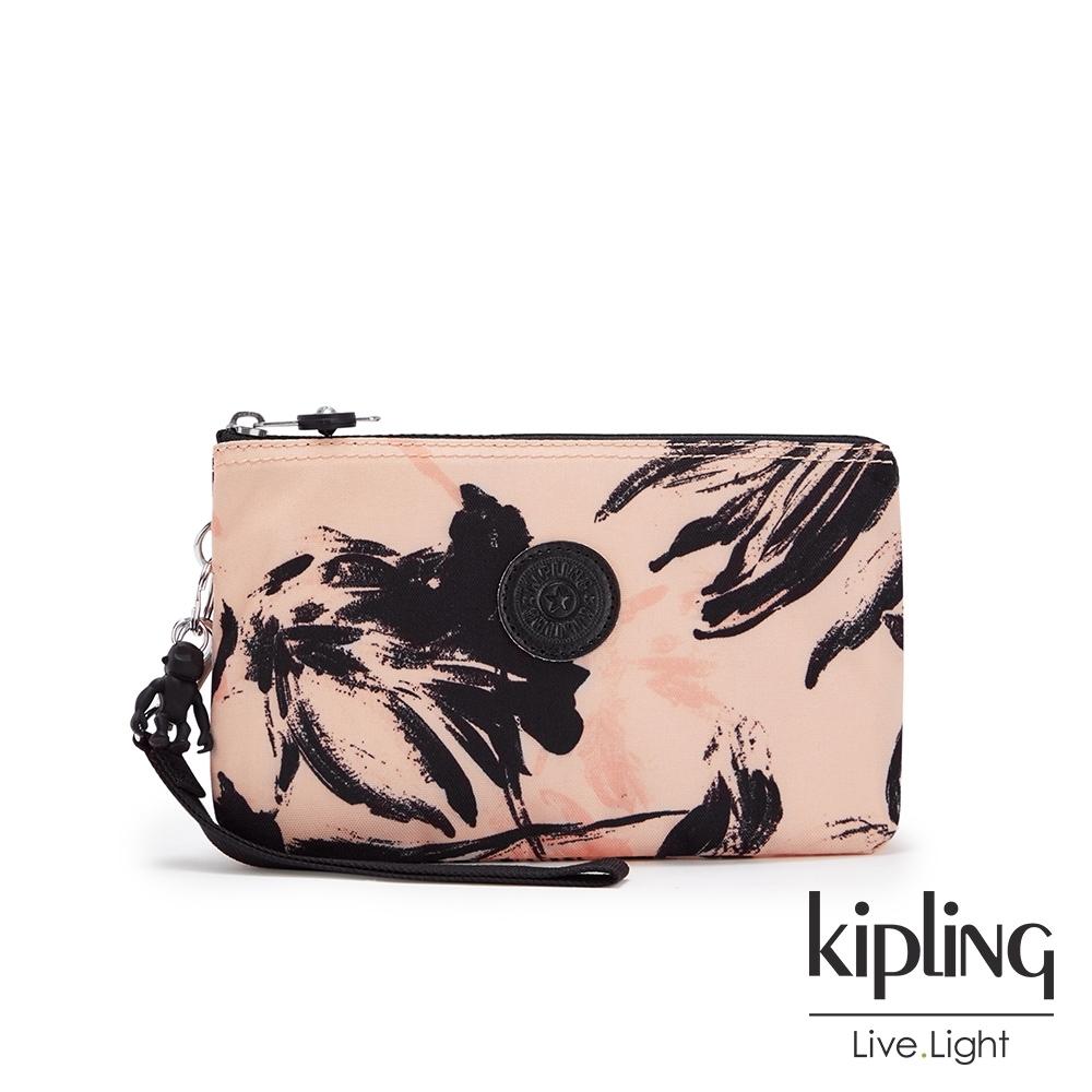 Kipling 珊瑚花潑墨多層配件包-CREATIVITY XL