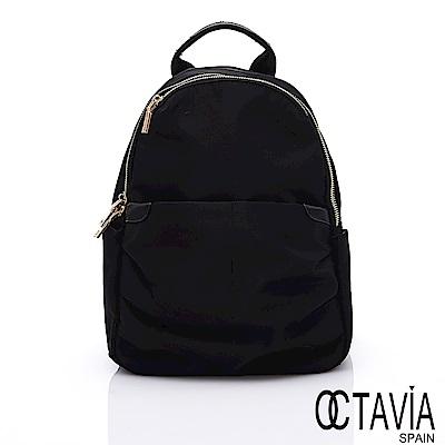 OCTAVIA 8 - 大嘴巴小嘴巴 黑金尼龍三層輕量後背包 - 好忙黑