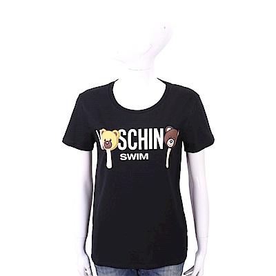MOSCHINO Swim Bear 冰棒熊黑色棉質T恤