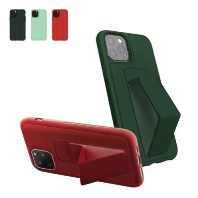 iPhone12保護套 強力磁吸 純色 立架 支架 手機殼 iPhone 12 保護套-紅色*1