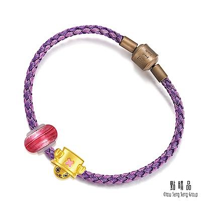 點睛品 Charme Murano Glass 航海王喬巴 彩色琉璃黃金串珠手鍊