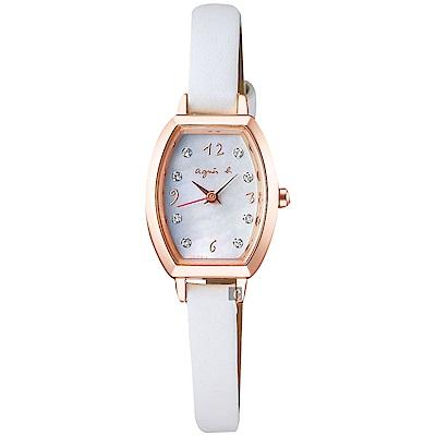 agnes b. 愛上法國巴黎太陽能石英女錶(BU9026P1)