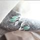 東方美學藝術素銀文藝純銀鑲嵌東陵玉戒指-設計所在 product thumbnail 1