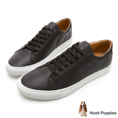 Hush Puppies WDC 男綁帶休閒鞋-煙灰色