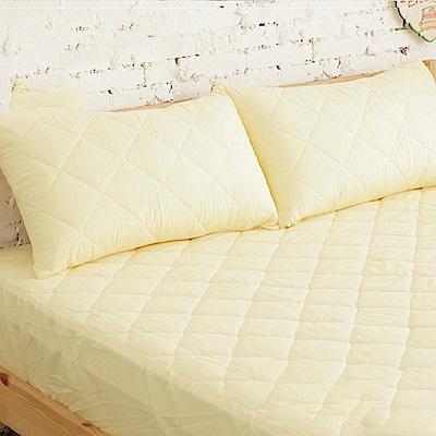 UP101 漾彩保潔墊枕套全包覆式2入-黃(EO-001)