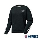K-SWISS HS Sweatshirt韓版長袖上衣-女-黑