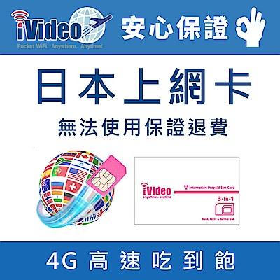 iVideo日本上網卡 SIM卡 5天 吃到飽 【升級方案】