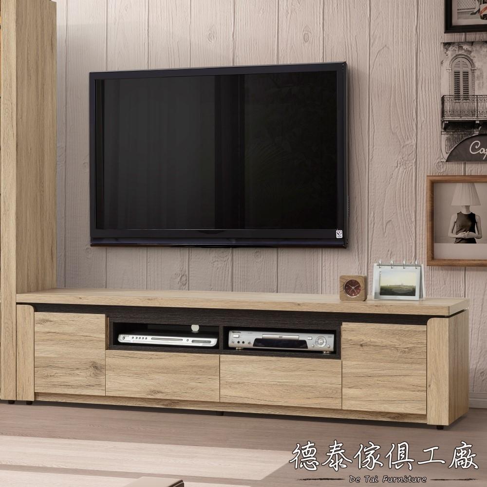D&T 德泰傢俱 BETIS白橡木6尺電視櫃 -181*40*47(cm)