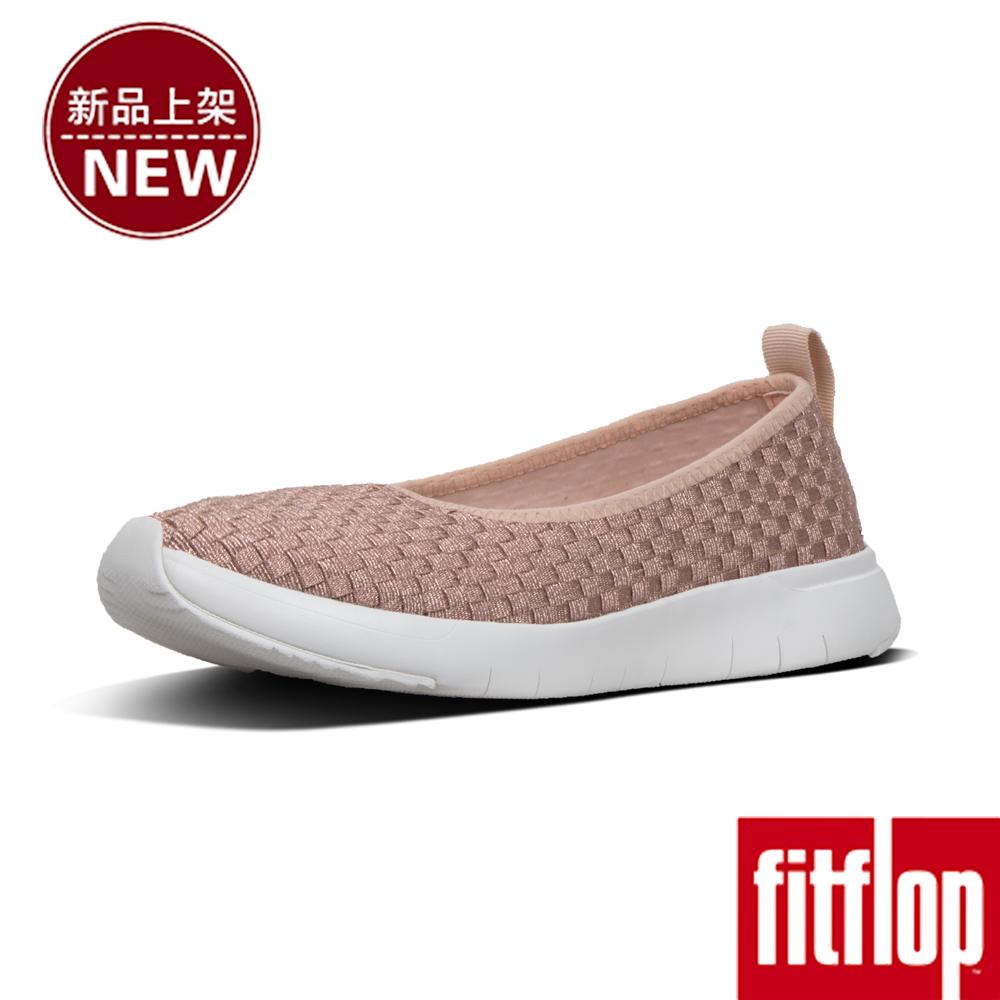 FitFlop STRIPKNIT SLIP-ON BALLERINA-玫瑰金