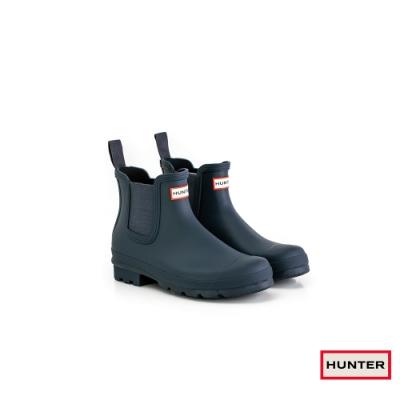HUNTER - 男鞋 - Original切爾西霧面踝靴 - 藍