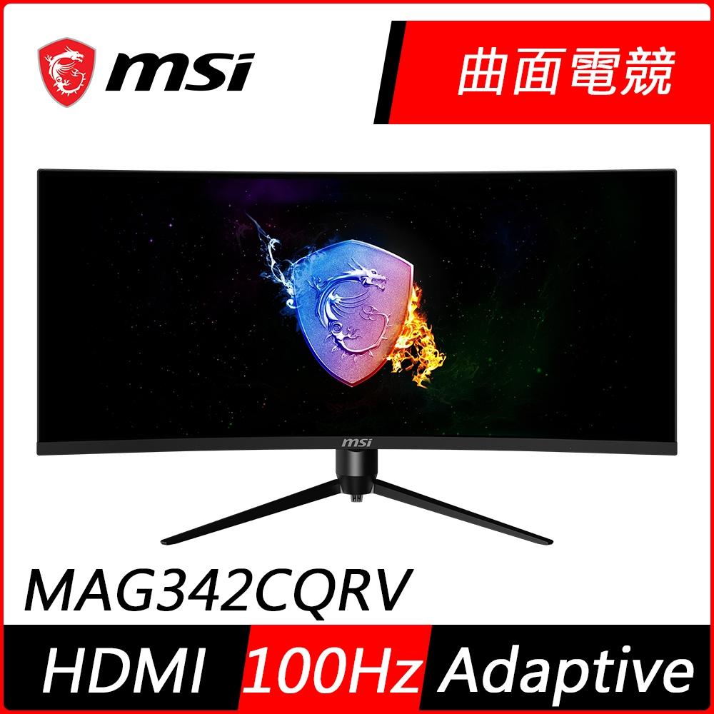 MSI微星 Optix MAG342CQRV 34型 UWQHD 1500R曲面電競螢幕 2K高解析 100Hz 1ms