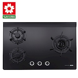 櫻花牌 G2932G 雙炫火強化玻璃檯面式三口瓦斯爐(不含安裝)