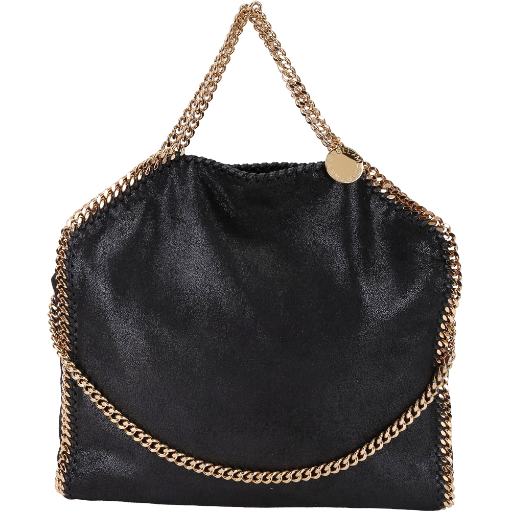 Stella McCartney Falabella Shaggy 金鍊帶兩用包(黑色)