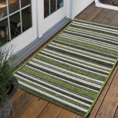 Ambience 比利時Brighton 玄關/門口平織地毯(綠色 60x110cm)