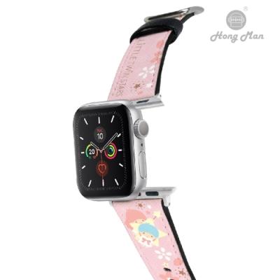 三麗鷗系列 Apple Watch 皮革錶帶 Little Twin Stars 櫻花雙子星 42/44mm