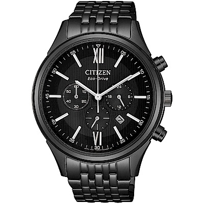CITIZEN星辰沈穩時尚光動能腕錶(CA4415-81E)-黑