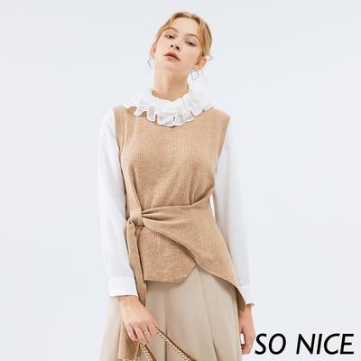 SO NICE優雅穿繩造型針織背心