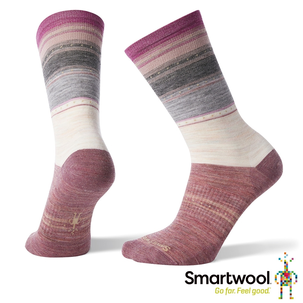 SmartWool 女 中長襪 Sulawesi Stripe 米白