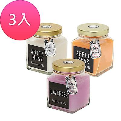 日本John s Blend 居家芳香膏-135g*3入(白麝香、薰衣草 、蘋果梨 )