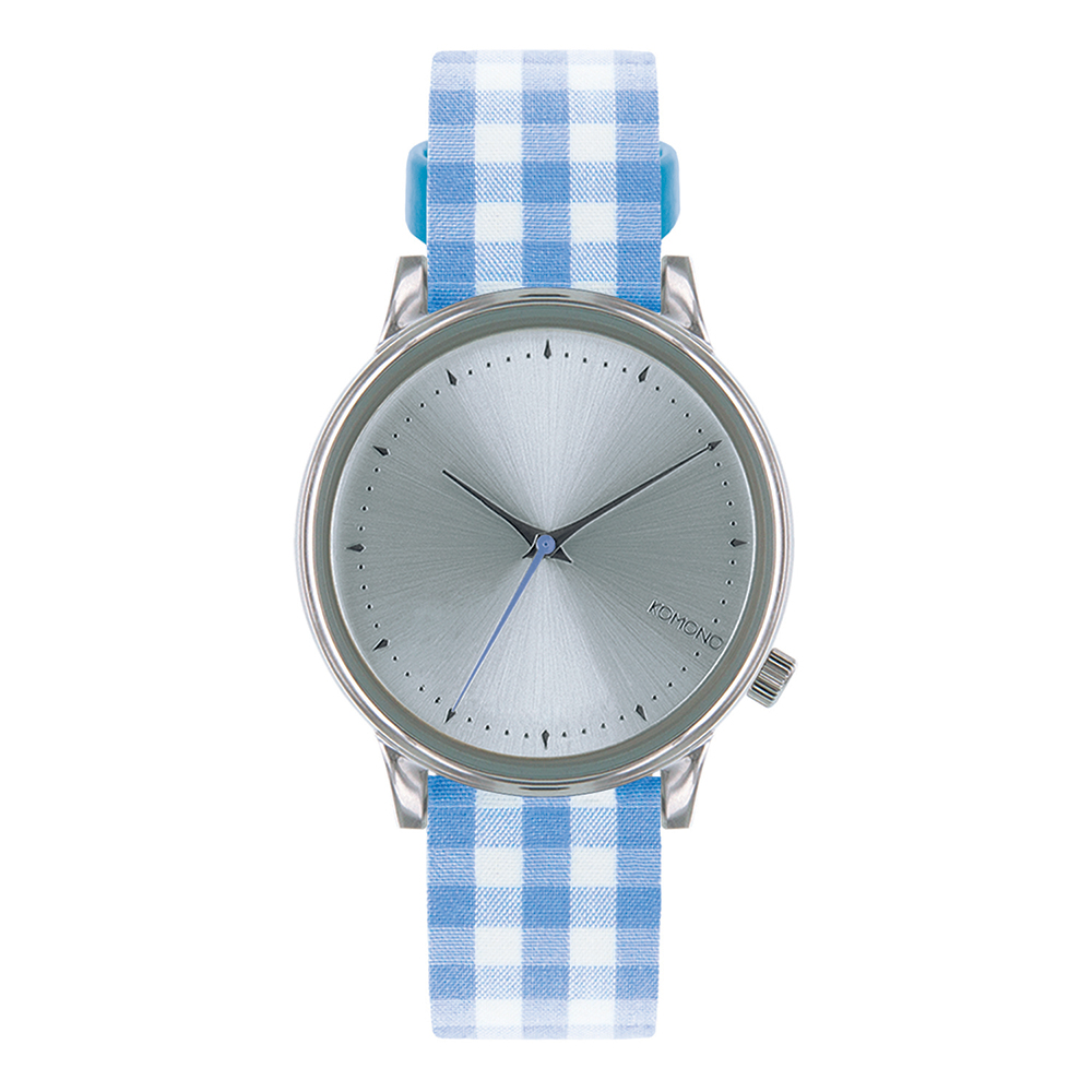 KOMONO Estelle Vichy 腕錶-藍色瑪莉格紋/36mm