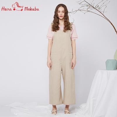 Hana-Mokuba-花木馬日系女裝連體背帶闊腿褲_淺卡其