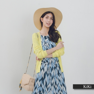 【KiKi】名媛休閒風-針織衫(黃色)