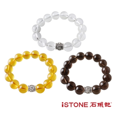 石頭記 品牌經典水晶手鍊-六字真言 14mm