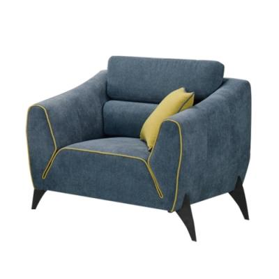 文創集 哈里特  現代透氣可拆洗絲絨布單人座沙發-101x91x80.5cm免組