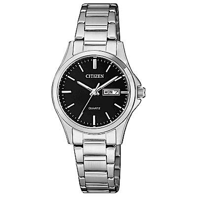 CITIZEN 都會新時尚石英女錶(EQ0591-81E)-黑x26.5mm
