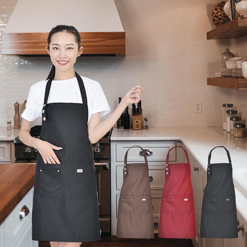 日創優品 時尚可調整肩帶長度工作圍裙(2件)