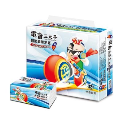 BeiGang電音三太子抽取式衛生紙90抽x96包/箱
