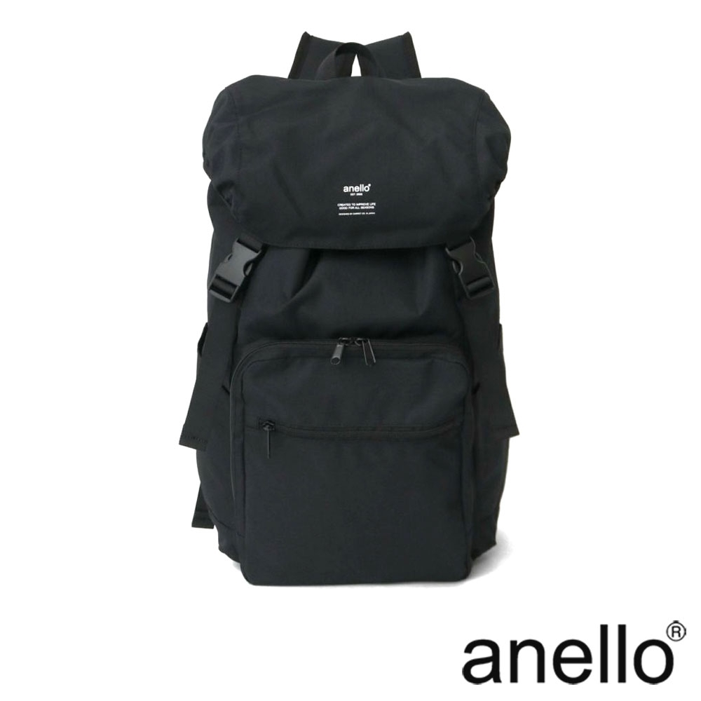 anello TRACK 大容量翻蓋式後背包 黑色