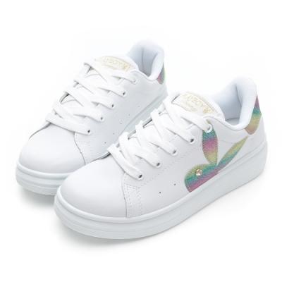 PLAYBOY unicorn 幻彩兔兔小白鞋-白彩-Y72151G