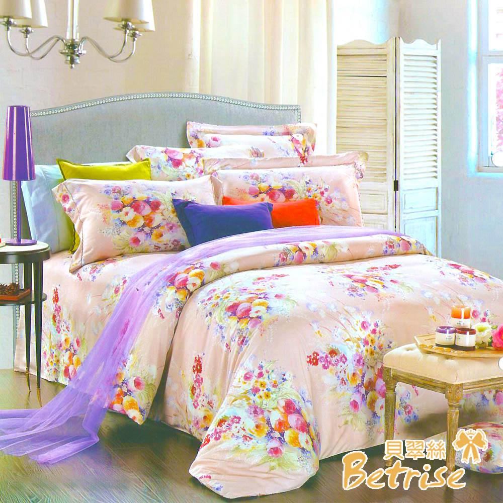 Betrise艾菲爾花園 特大-100%奧地利天絲四件式兩用被床包組