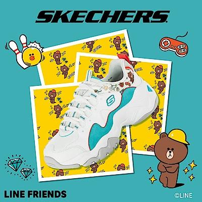 SKECHERS 女休閒系列 D LITES 3.0 LINE FRIENDS 熊大限定款 - 66666255WAQ
