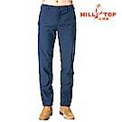 【hilltop山頂鳥】男款抗風超潑水彈性保暖長褲H31MK6印墨色