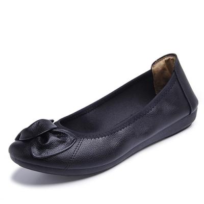 韓國KW美鞋館-簡約休閒大蝴蝶平底鞋-黑色
