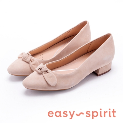 Easy Spirit CALASEE 清新可愛 蝴蝶結裝飾低跟鞋-絨米